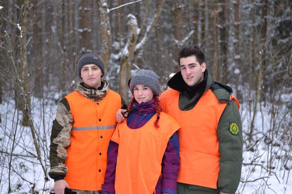 Учебная охота студентов лесохозяйственного факультета